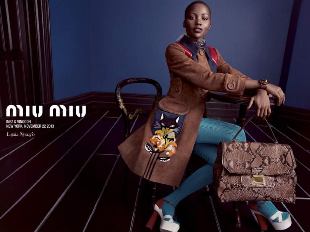 Lupita Nyong'o in the campaign Miu Miu