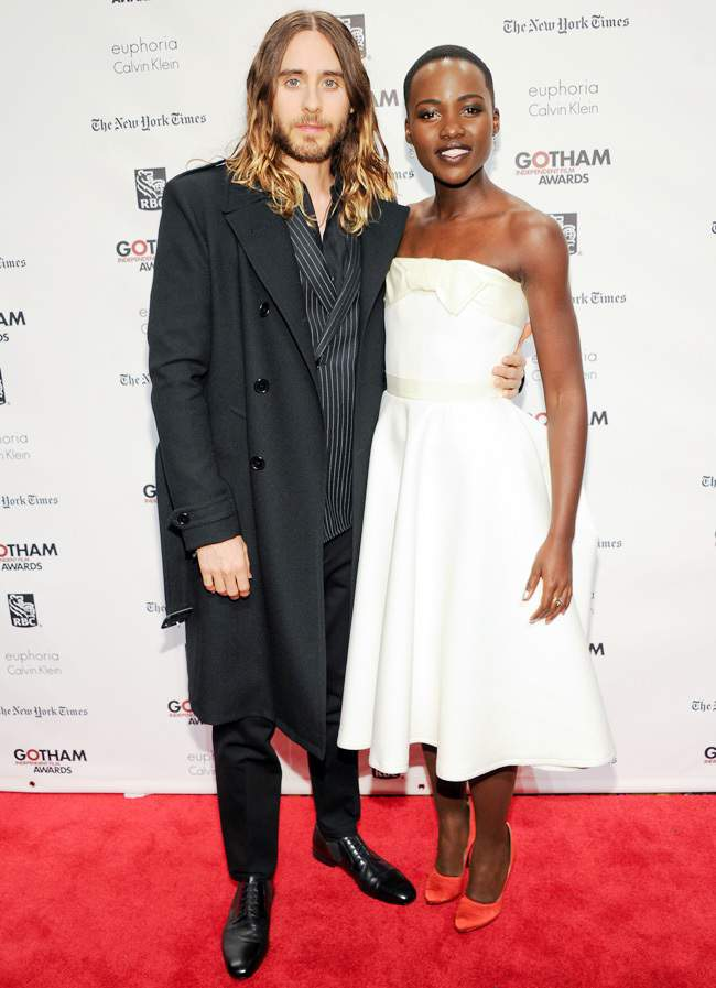 Lupita Nyong'o together with Jared Leto