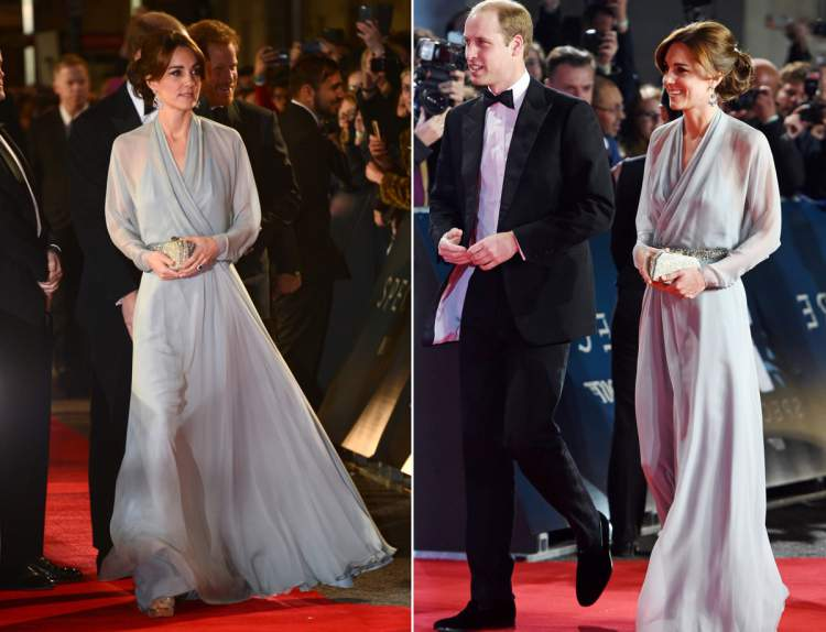 "Kate Middleton and Prince William flashed at the premiere of ""Spectra"""